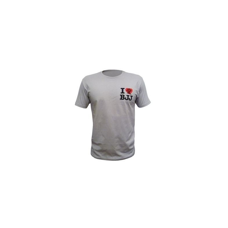 "T SHIRT SPORTS FUJI Grey ""I LOVE BJJ"""