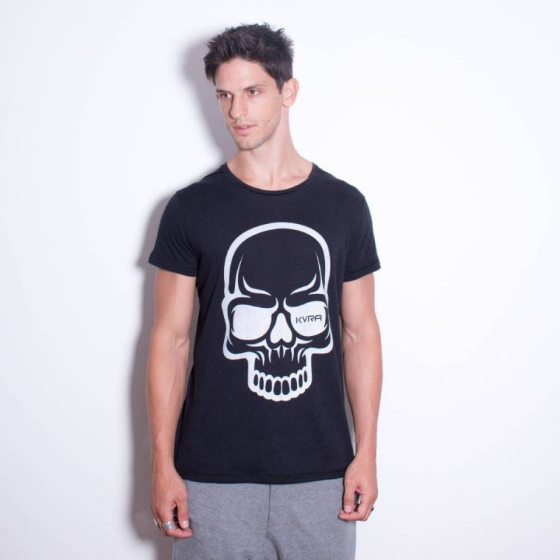 T-shirt KVRA Full Skull noir
