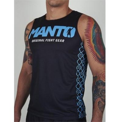 DEBARDEUR MANTO tank top VICTORY Noir / Bleu