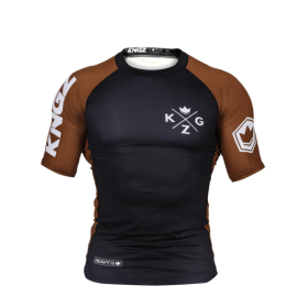 RASHGUARD BJJ KINGZ RANKED V3 BROWN