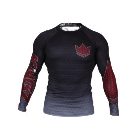 RASHGUARD BJJ KINGZ IBJJF CROWN 3.0 BLACK