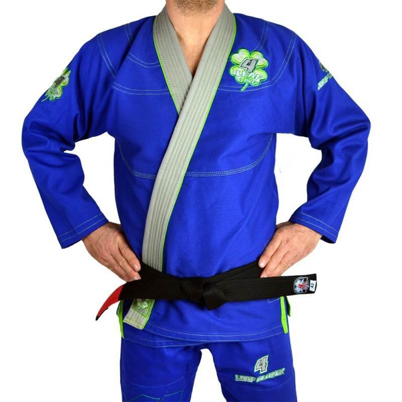 KIMONO JIU JITSU 4LEAF CLOVER LUCK LIMITED EDITION BLEU